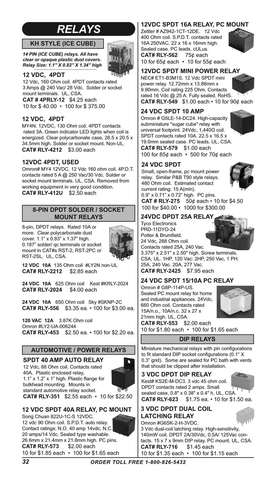 Page 32 Of Electronic And Electro Mechanical Parts Supplies 2016 Power Relay Rating