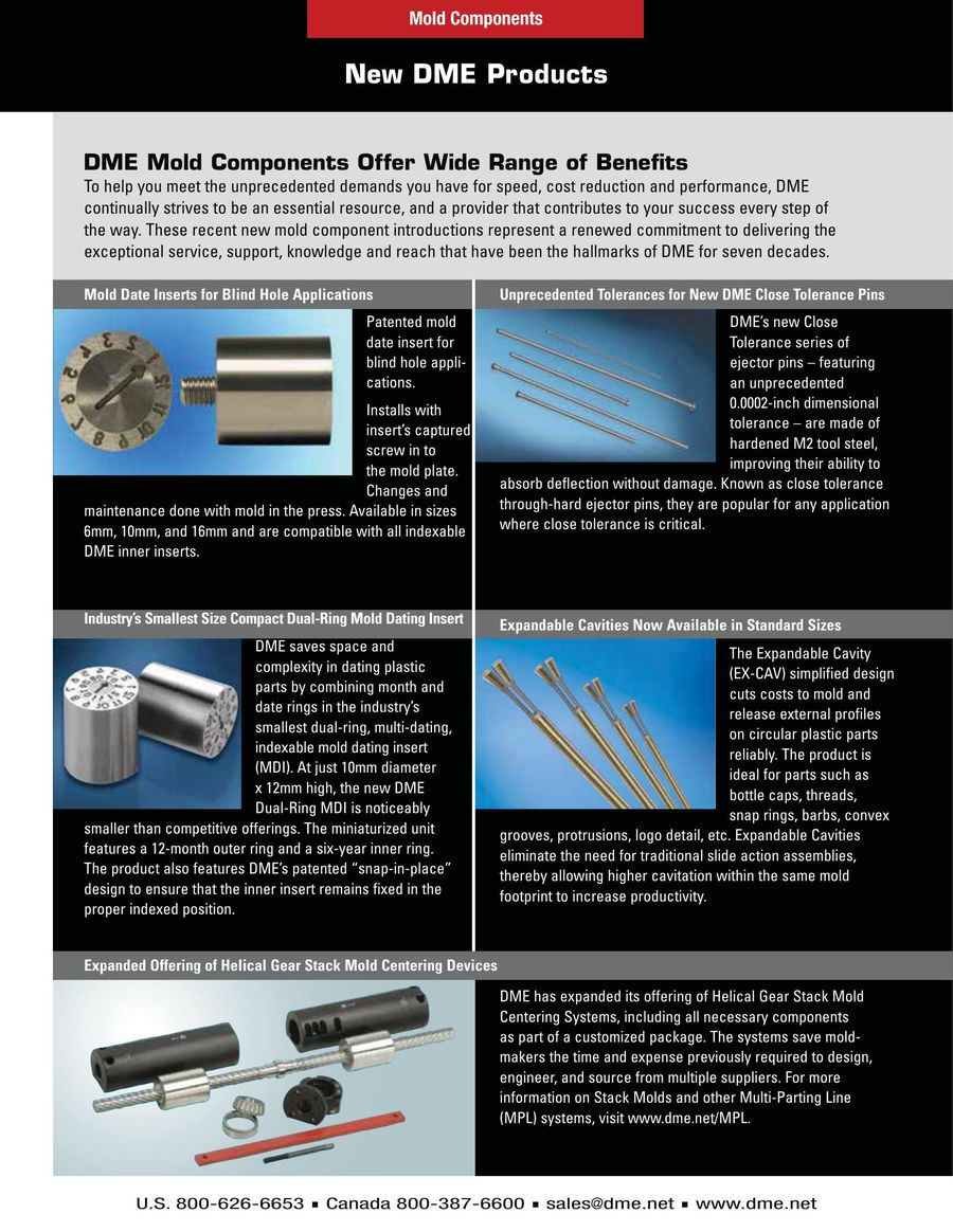 Mold Components 2016 by DME