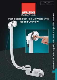 Push Button Bath Pop-Up Waste with Trap and Overflow 2016