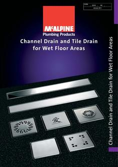 Channel Drain and Tile Drain for Wet Floor Areas 2016