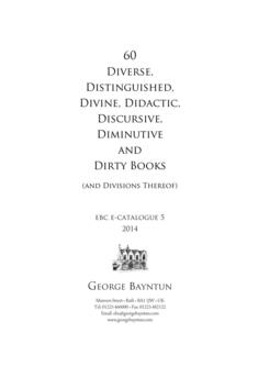 Diverse, Distinguished... and Dirty Books (and Divisions Thereof) 2014