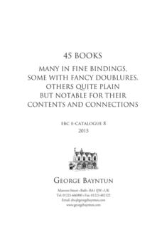 45 Books, Many In Fine Bindings 2015