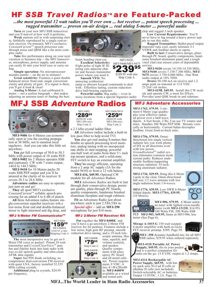 Page 37 of MFJ 2006 Catalog