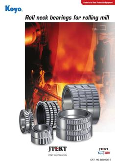 Roll neck bearing for rolling mill 2016