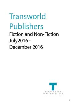 Transworld Publishers August - December 2016