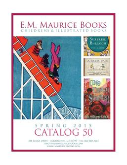 Book Catalog 50 Spring 2015 Part One