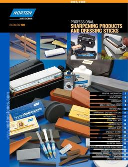 Sharpening Products and Dressing Sticks 2016