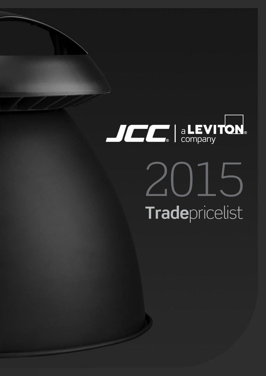 Trade Price List Sept 2015 by JCC Lighting