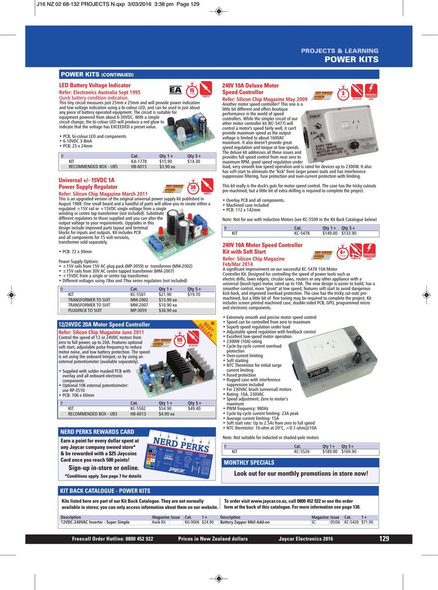 Page 128 Of 2016 Jaycar Catalogue Simple Nicad Battery Zapper Circuit P 548