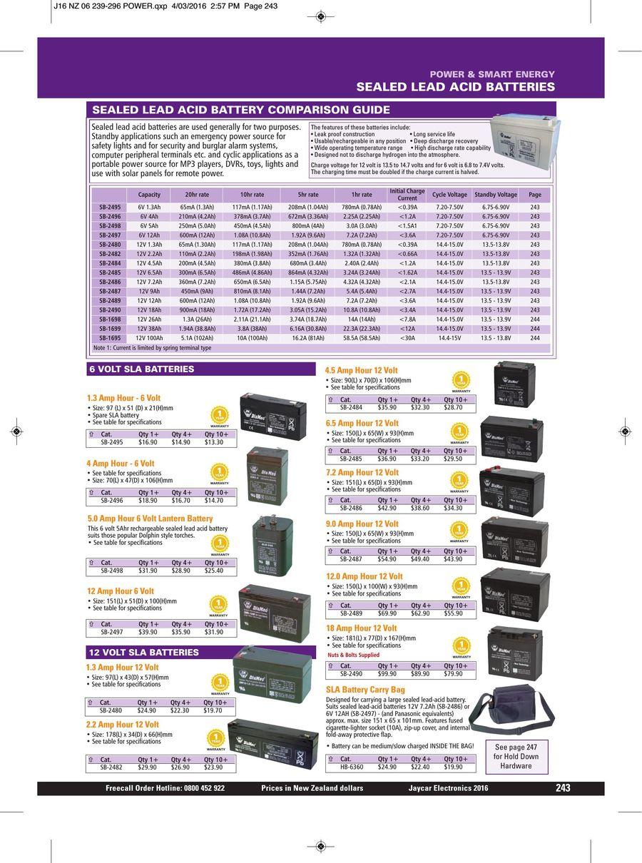 Page 242 Of 2016 Jaycar Catalogue Low Voltage Cutout For 12v Sla Batteries P 548