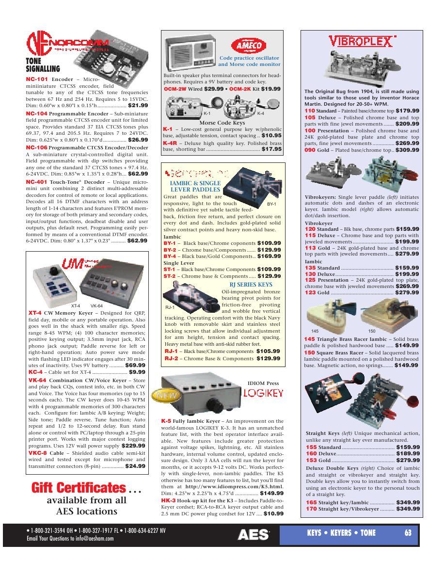 Page 38 of AES Ham Radio Catalog