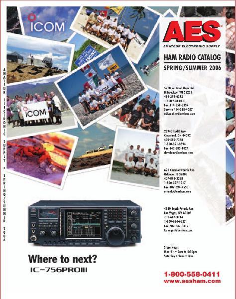 Page 1 of AES Ham Radio Catalog by AES Amateur Electronic Supply