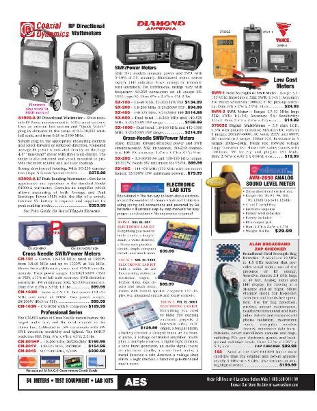 Page 30 of AES Ham Radio Catalog by AES Amateur Electronic Supply