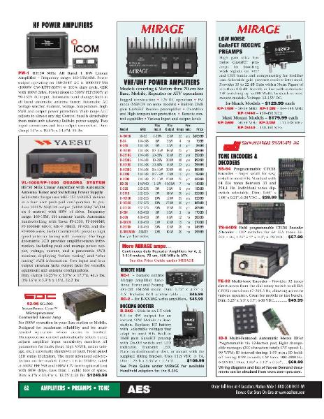 Page 38 of AES Ham Radio Catalog by AES Amateur Electronic Supply