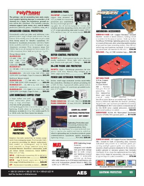 Page 79 of AES Ham Radio Catalog by AES Amateur Electronic Supply