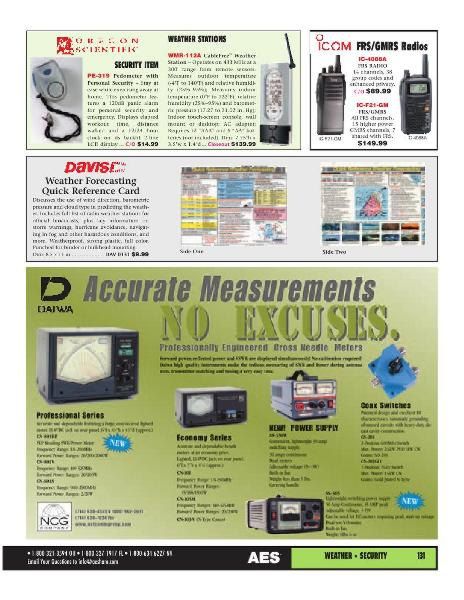 Page 107 of AES Ham Radio Catalog by AES Amateur Electronic Supply