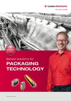 Packaging technology sensors 2016