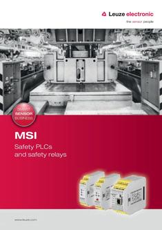 MSI - Safety controls and safety relays 2016
