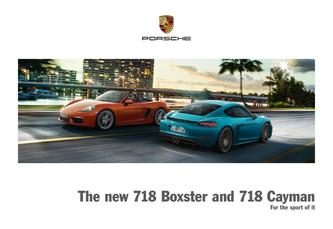The new 718 Boxster and 718 Cayman 2016