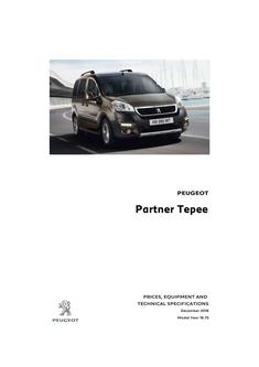 Partner Tepee prices and specs 2016