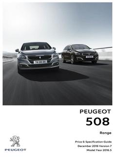 508 Saloon/SW prices and specs 2016