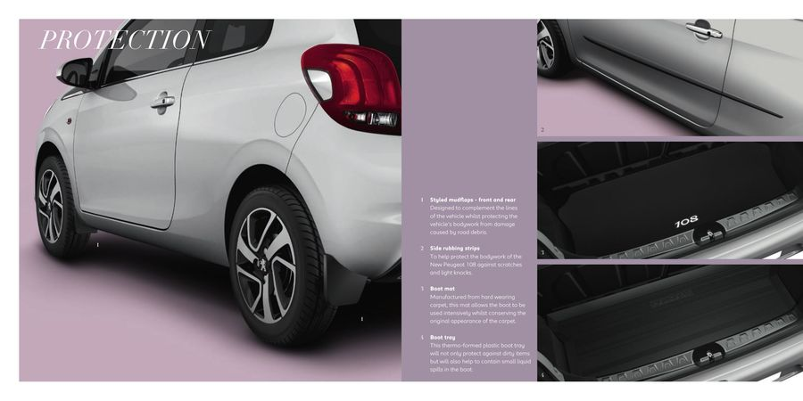 page 8 of peugeot 108 accessories 2016