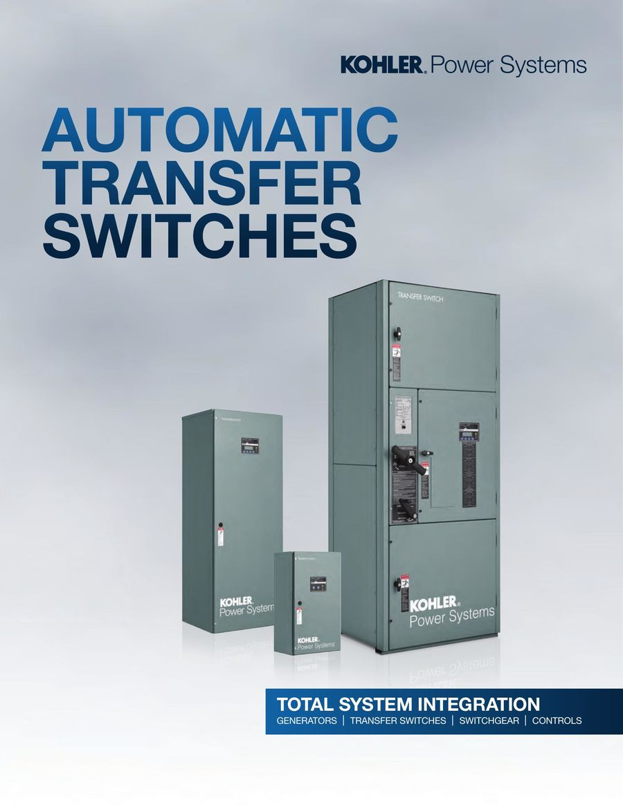 Automatic Transfer Switches 2017 by Kohler Co.