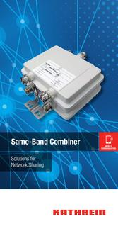 SAME-BAND COMBINER Solutions for Network Sharing Januar 2016