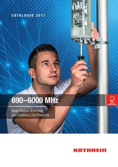 690-6000 MHZ Base Station Antennas and Antenna Line Products Januar 2017