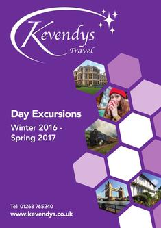 Day Excursions Winter 2016 - Spring 2017