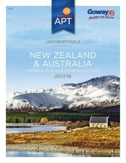 New Zealand & Australia Escorted Tours 2017/18 (Canadian $)