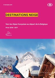 Thalys Snow timetables and prices Winter 2016 - 2017 (French)