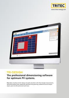 PV Dimensioning Software TRI-DESIGN 2017