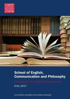 English, Communication & Philosophy 2017