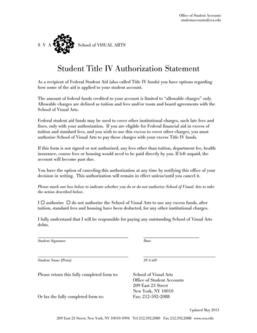 Student Title IV Authorization Statement