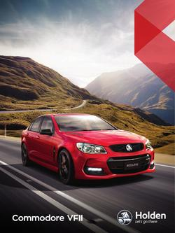 Holden Commodore VFII 2017