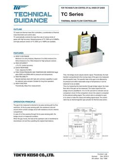 TC-1000 Series Thermal Mass Flow Controller (Standard type) 2017