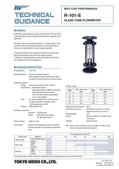 R-101-EGlass tube Flowmeter (Best Cost Performance) 2017