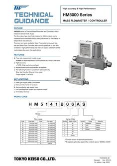 HM5000 Series Mass Flow Controller 2017