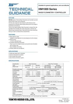 HM1000 Series Mass Flow controller 2017