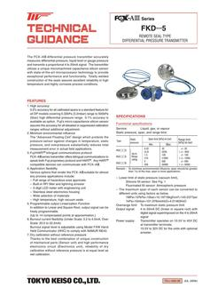 FKD・・・5 DP Transmitter (Remote Seal Type) 2017