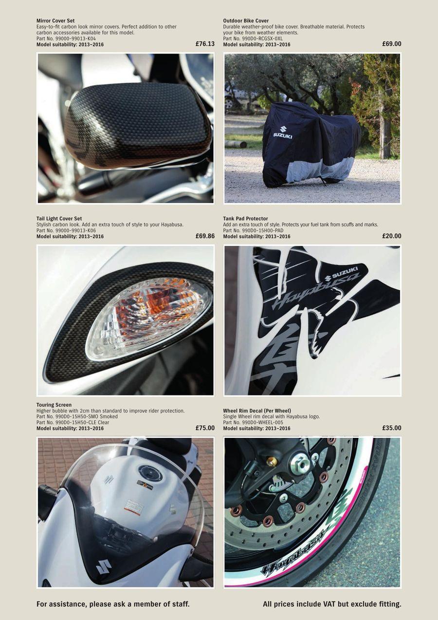 Hayabusa Accessories 2017 By Suzuki Gb
