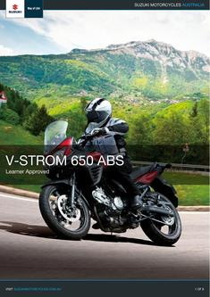 2016 V-Strom 650 ABS Learner Approved