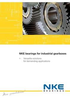 NKE bearings for industrial gearboxes 2017