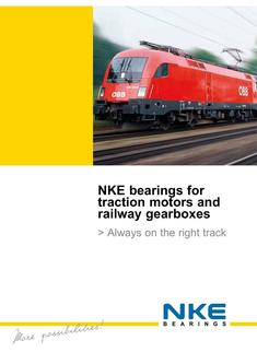 NKE bearings for railway applications 2017