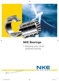 NKE bearings for wind energy 2017