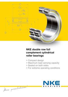 Double row, full complement cylindrical roller bearings NNF 2017