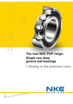 POP range single row deep groove ball bearings 2017