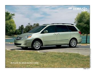2008 Sienna Towing Capacity >> Towing Capacity Toyota Sienna Ce In 2008 Sienna By Toyota Motors