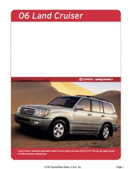 Toyota 06 Land Cruiser